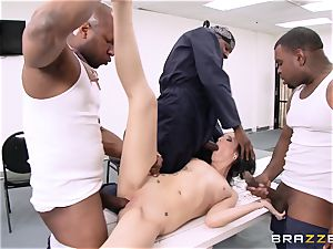 Hailey young takes on a group of super-naughty inmates