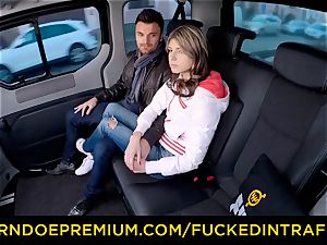 drilled IN TRAFFIC nubile Gina Gerson hotwife car bang-out
