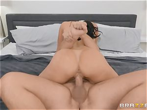 old dark-haired sweetie Kendra passion riding boner