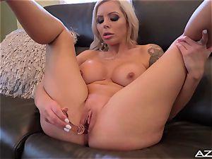 Nina Elle fuck sticks her vagina till she reaches ejaculation