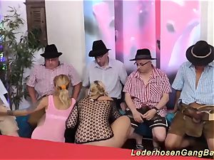 German mass ejaculation group sex party