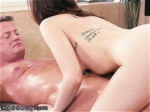 NuruMassage wife Gives spouse Pass to pummel super-hot massagist