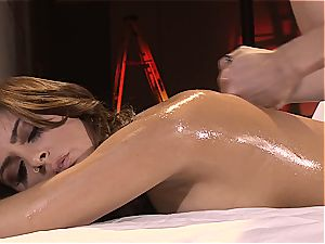 Bella gets a blessed finishing massage