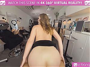 VRBangers.com Hairdresser Ella pummeled hard and facial