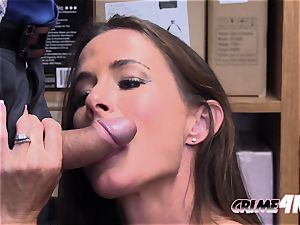 scorching milf Sofie is taken to mall cops office for a rock hard fucking