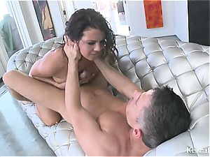 Top buxomy stunner Keisha Grey gets naughty with Mick's chisel