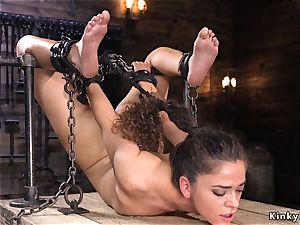 honey in back arch aggressive bondage caned
