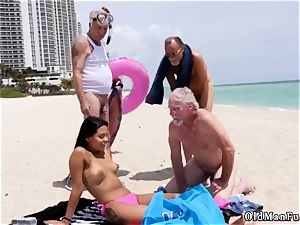 platinum-blonde gangbang elderly first time Staycation with a latin ultra-cutie