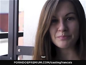 casting FRANCAIS Cowgirl pipe railing with shy newbie