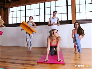 Kinsley Eden is analled after a yoga session