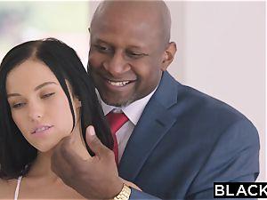 BLACKED torrid Megan Rain Gets DP'd By Her Sugar dad and His mate