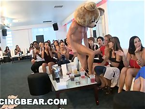 CFNM motel party with huge manmeat masculine Strippers