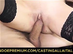 casting ALLA ITALIANA - sloppy new-comer rectal casting