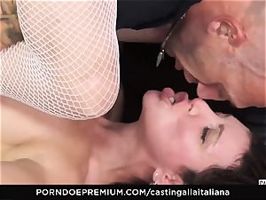 audition ALLA ITALIANA - beginner rectal gape and shag