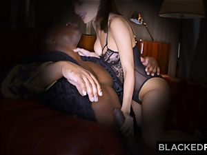 BLACKEDRAW wifey loves his gigantic ebony man-meat a tiny too much