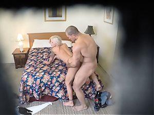 horny Nina Elle pokes her boy at the motel