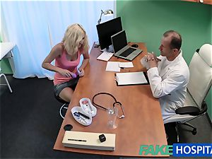 FakeHospital blond patient frolicking with her labia