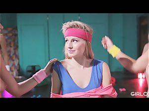 GIRLCORE Aerobics Class Leads to girly-girl drizzling lovemaking