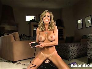 Brandi enjoy rails the sybian naked