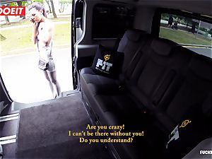 cab driver takes advantage of sad babe and tears up her
