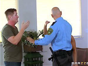 Abigail Mac gets shafted by a warm cop in uniform
