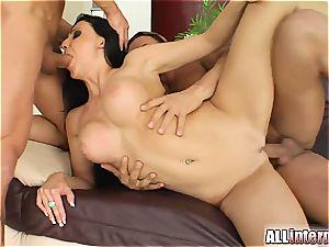 Aletta Ocean's vagina hosts 2 phat jizz loads