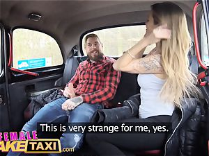 woman fake cab beautiful Englishman pays in spunk