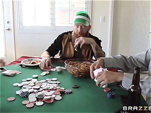 Sarah Jessie humping her hubbies poker buddy