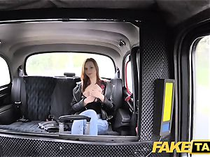 faux taxi slim ginger-haired loves rough romp