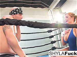 luxurious Shyla gets some instructing