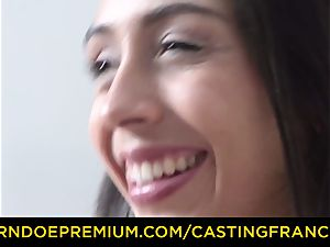 audition FRANCAIS - inexperienced sweetie humped and cum glazed