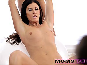 Moms instruct fuckfest - fabulous mommy exchanges cum with daughter