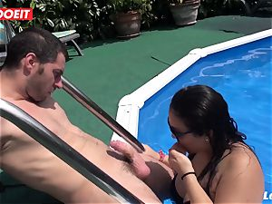 LETSDOEIT - obese French first-timer nubile pounded By father