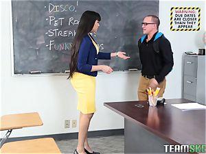Mercedes Carrera drills her schoolgirl