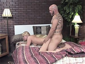 Vanessa gets her humid puss humped on the sofa