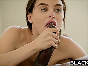 BLACKED black-haired Lana Rhoades first-ever meaty dark-hued prick