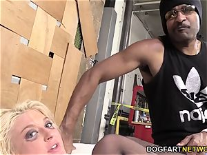 Leya Falcon Gets analed By A dangled black man