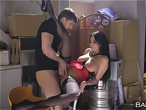 ginormous inborn milk cans Frenchwoman gets ravaged in the dungeon