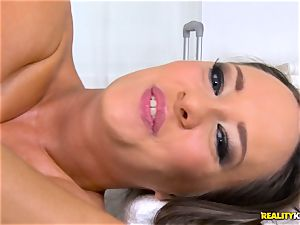 pounding the pussyhole of mischievous brown-haired Blue Angel