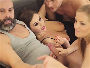 LOS CONSOLADORES - torrid swinger 4some with warm honeys