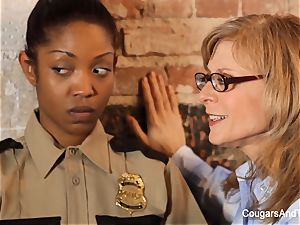 killer ebony cop plows her 2 coworkers