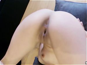 adorable Latina poked by a super-naughty animal