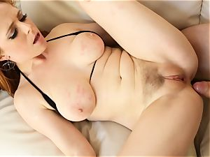 sandy-haired Penny Pax romps with her furry vag
