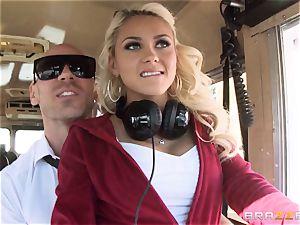 wild hitchhiker Marsha May boning hot bus driver