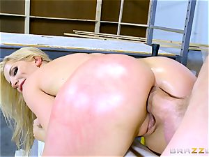 Smoking sizzling ash-blonde Ashley Fires smashed in her rectum