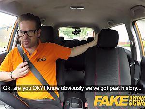 fake Driving college Barbie Sins messy oral job