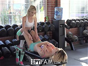 SpyFam Step bro Catches Step Sisters eating twat