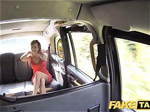 faux cab female in short sundress gets a cab internal ejaculation