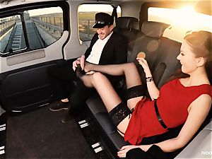 pounded IN TRAFFIC - brit Tina Kay pummeled in the car