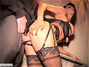 Romi Rain - impressive hot first-timer pornography in the street
